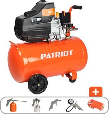 Компрессор Patriot EURO 50-260 K + набор пневиоинструмента KIT 5В 525306316 воздушный компрессор patriot euro 50 260