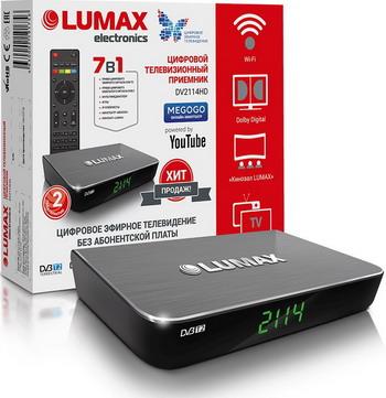 Цифровой телевизионный ресивер Lumax DV 2114 HD черный цена и фото