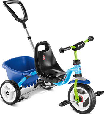 Велосипед Puky CAT 1S 2216 трехколесный blue/kiwi голубой/киви цена