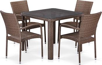 цена на Комплект мебели Афина T 341 B/Y 376-W 773-90 x 90 4Pcs Brown