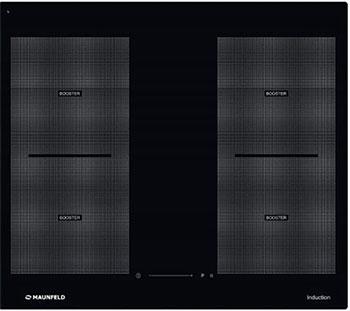 лучшая цена Встраиваемая электрическая варочная панель MAUNFELD MVI 59.2FL-BK черный
