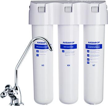 Стационарная система Аквафор Кристалл А для жёсткой воды недорого