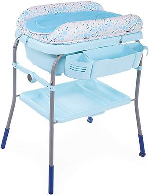 цена Пеленальный столик с ванночкой Chicco Cuddle & Bubble Comfort (Ocean) в интернет-магазинах