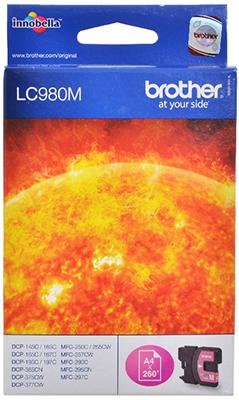 цена Картридж Brother LC 980 M пурпурный онлайн в 2017 году