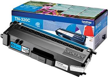 Тонер-картридж Brother TN 320 C голубой картридж для принтера brother tn 1075