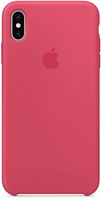Чехол (клип-кейс) Apple Silicone Case для iPhone XS Max цвет (Hibiscus) красный каркаде MUJP2ZM/A iphone xs max silicone case black