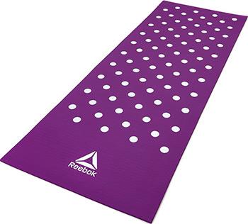 Коврик для йоги и фитнеса Reebok Белые Пятна 7 мм пурпурный RAMT-12235PL комбинезон для йоги и фитнеса без рукавов грация цветная agyoga серый 164см 42 44