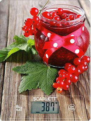 лучшая цена Кухонные весы Scarlett SC-KS57P36 красная смородина