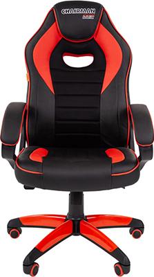 Кресло Chairman game 16 экопремиум черный/красный 00-07024557 кресло chairman game 16 экопремиум черный желтый 00 07028514