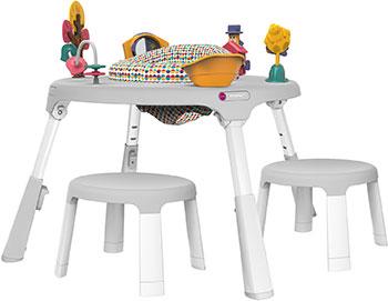 Набор стол + 2 стула Oribel Страна чудес -Расти со мной (игровой центр табуретки) CY303-90008-INT-R пластиковая мебель oribel табуреты для детей страна чудес