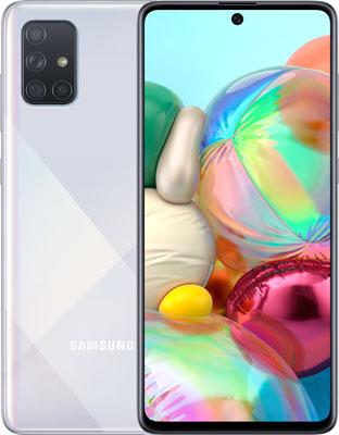 Смартфон Samsung Galaxy A71 SM-A715F серебряный