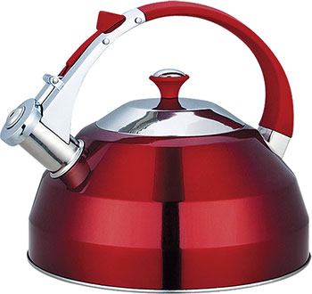 Фото - Чайник KORALL GreenTOP GS-04156FY 3 л со свистком нерж. красный endever чайник aquarelle 301 302 303 3 л красный