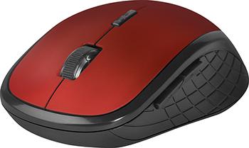 Беспроводная оптическая мышь Defender Hit MM-415 6 кнопок 1600dpi красный (52415)