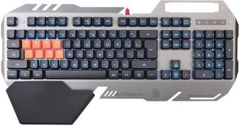 Клавиатура игровая проводная A4Tech Bloody B418 серый