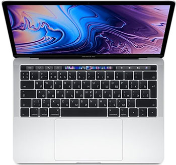 Ноутбук Apple MacBook Pro 13 with Retina display and Touch Bar Mid 2019 (MUHR2RU/A) серебристый ноутбук apple macbook pro 15 with retina display late 2016 touch bar touch id 2 7ghz 512gb space grey mlh42