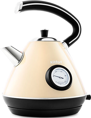 Чайник электрический Kitfort KT-686-3 бежевый фото