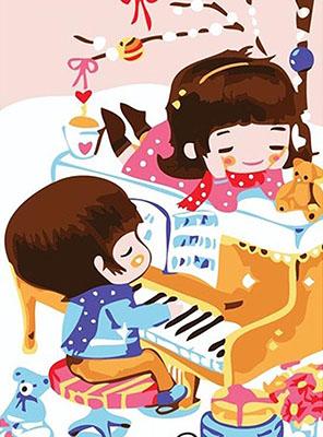 Картина по номерам Цветной ''Удивительная музыка'' (20 х 30) на подрамнике mc045