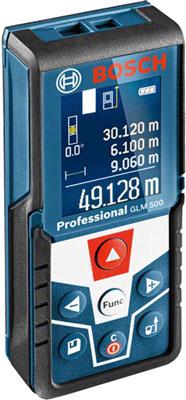 Лазерный дальномер Bosch GLM 500 0601072H00 лазерный дальномер уклономер bosch glm 80 0 601 072 300