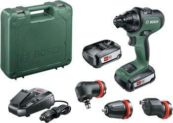 Аккумуляторная дрель-шуруповерт Bosch AdvancedDrill 18 (2 акк) SET (с угловой и эксцентриковой насадкой) 06039B5003 makita ddf483sye дрель акк