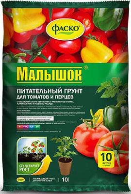 Фото - Грунт для томатов и перцев Фаско Малышок 10л Тп0102МАЛ02 грунт veltorf premium для томатов и перцев 10 л