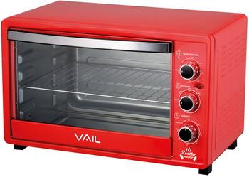 Электропечь Vail VL-5000 красный
