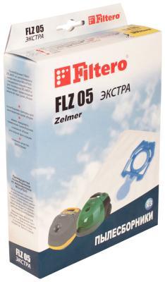 Набор пылесборников Filtero FLZ 05 (3) ЭКСТРА мешок пылесборник filtero flz 05 экстра