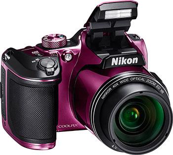 Цифровой фотоаппарат Nikon COOLPIX B 500 plum цифровой фотоаппарат nikon coolpix a 100 purple lineart