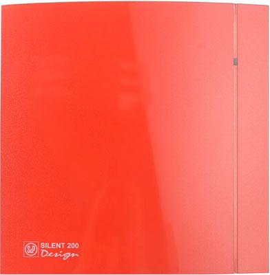 все цены на Вытяжной вентилятор Soler & Palau SILENT-200 CZ RED DESIGN-4C (красный) 03-0103-146 онлайн