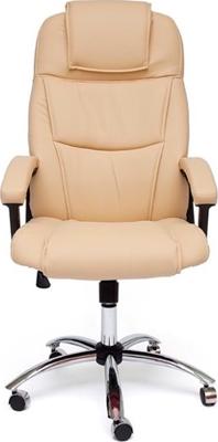 цена на Кресло Tetchair BERGAMO (хром) (кож/зам бежевый 36-34)