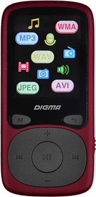MP3 плеер Digma B3 8Gb красный выбрать mp3 flash плеер
