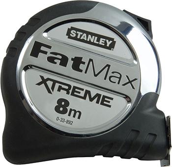 Рулетка Stanley FATMAX XL 8M 0-33-892 рулетка stanley fatmax 30мx9 5мм 0 34 132