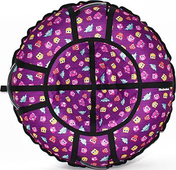 Тюбинг Hubster Люкс Pro Совята фиолетовые (120см) во4549-3