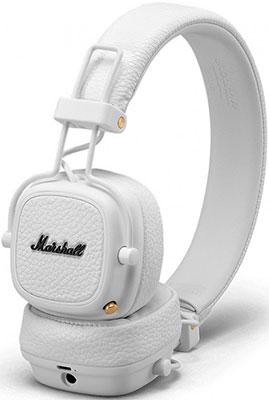 Накладные наушники Marshall Major III Bluetooth White элегантность и музыка другая кепка беспроводной связи bluetooth bluetooth гарнитуру для спикера микрофон наушник смарт зимних откр
