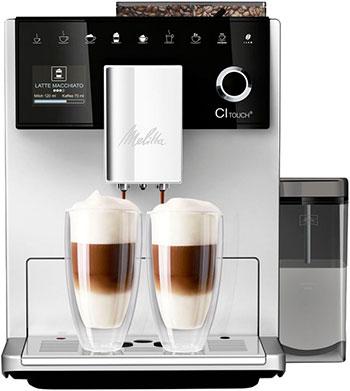 Кофемашина автоматическая Melitta Caffeo F 630-101 CI Touch 1450Вт серебристый недорого