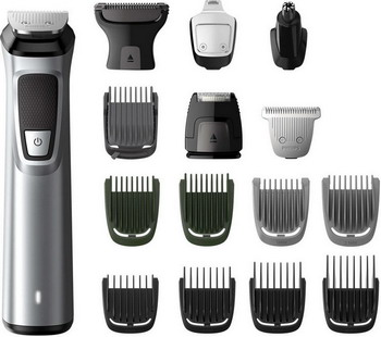 Триммер для лица и тела Philips MG 7730/15 16 в 1 Multigroom series 7000 philips multigroom series 7000 14 in 1 premium trimmer for face hair and body with dualcut technology showerproof mg7720 15