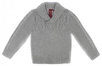 Джемпер Reike SB-19 для мальчика knit 86-52(26) 18 мес. Серый комплект комбинезонов для мальчика фреш стайл цвет голубой салатовый 2 шт 21 527м размер 86 18 мес