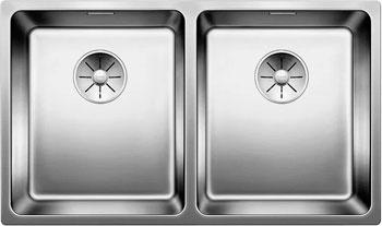 Кухонная мойка Blanco ANDANO 340/340-U InFino 522983 кухонная мойка blanco andano 340 340 u infino зеркальная полированная сталь 522983