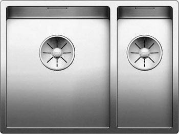 Кухонная мойка Blanco CLARON 340/180-IF (чаша справа) нерж. сталь зеркальная полировка 521608