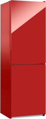 Двухкамерный холодильник NordFrost NRG 119 842 красное стекло холодильник nord nrb 119 842 двухкамерный красное стекло [00000246087]