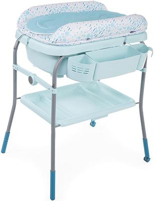 цена Пеленальный столик с ванночкой Chicco Cuddle & Bubble Comfort (Dusty Green) в интернет-магазинах