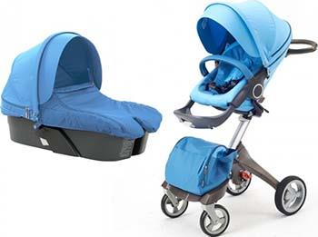 Коляска Everflo 2 в 1 DSLAND 180202 Blue ПП100003679 коляска 2 в 1 everflo soft graphite пп100004367