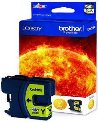 Картридж Brother LC 980 Y желтый картридж mak© tk 130 черный для лазерного принтера
