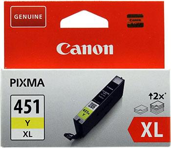 Фото - Картридж Canon CLI-451 Y XL 6475 B 001 Жёлтый тонер картридж canon pgi 2400 xl y 9276 b 001 желтый