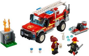 Конструктор Lego City Town 60231 Грузовик начальника пожарной охраны цена
