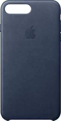 Чехол (клип-кейс) Apple Leather Case для iPhone 8 Plus/7 Plus цвет (Midnight Blue) тёмно-синий MQHL2ZM/A недорого