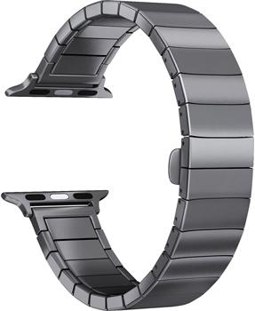 цена на Ремешок для часов Lyambda для Apple Watch 42/44 mm LIBERTAS DS-APG-06-44-BK Black