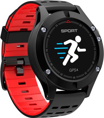 цена Умные часы NO.1 F5 черно-красные (NO.1F5R) онлайн в 2017 году