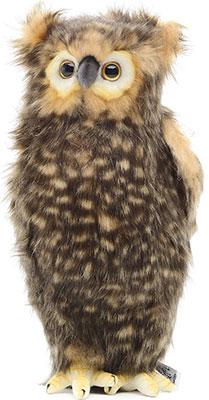 Мягкая игрушка Hansa Creation 4466 Сова (голова поворачивается) 34 см мягкая игрушка сова hansa сова белая искусственный мех синтепон белый 18 см 6155