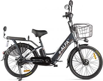 Велосипед Green City e-ALFA new темно-серый-2154  022301-2154