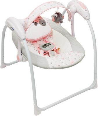 Электрокачели Amarobaby Swinging Baby GRAY-PINK (серо-розовый) AMARO-22SB-SR